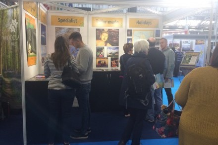 Tikalanka stand AP38 at Destinations: The Holiday & Travel Show, London Olympia, 30 January to 02 February 2020