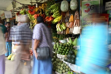 A plethora of Sri Lanka's wonderful fruit and vegetables in Kandy market