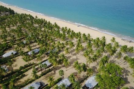 Aerial view of Karpaha Sands, Kalkudah, Sri Lanka