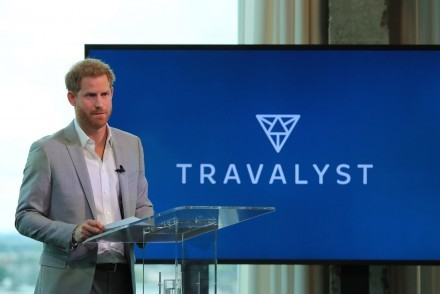 Prince Harry launching Travalyst (courtesy of The Guardian/Gareth Fuller/PA)