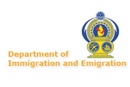 Department of Immigration and Emigration logo, Sri Lanka (courtesy of President's Media Division)