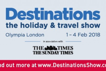 Destinations: The Holiday & Travel Show, Olympia London, 01-04 February 2018