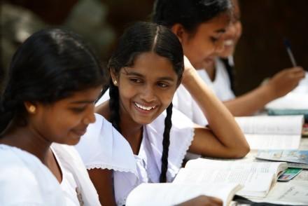 Girls at Sunday school, Kandy, Sri Lanka
