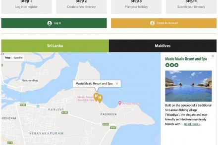 Sample page of the new Tikalanka Trip Planner