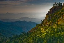 View through Ella Gap in the southern Hill Country, Sri Lanka