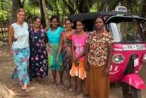 The pink tuk-tuks of Sri Lanka empowering and protecting women (courtesy of Al Jazeera)