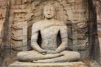Buddha in samadhi, Gal Vihara, Polonnaruwa, Sri Lanka