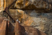 Lion's Paws Platform and staircase to the summit, Sigiriya, Sri Lanka