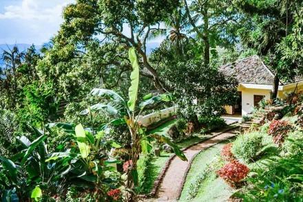 Garden view of Amaya Bungalow, Kandy, Sri Lanka