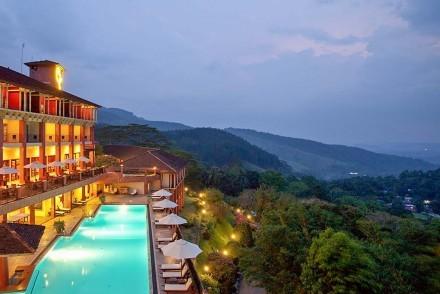 Hotel, pool and view, Amaya Hills, Kandy, Sri Lanka
