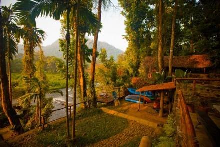 View from Borderlands Eco Lodge, Kitulgala, Sri Lanka
