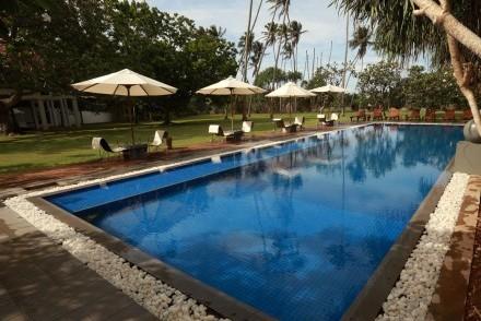 Pool and garden, Club Villa, Bentota, Sri Lanka