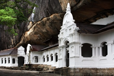 View of caves entrances, Dambulla, Sri Lanka