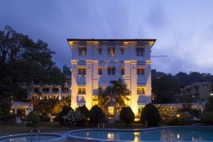 Hotel Suisse at night, Kandy, Sri Lanka