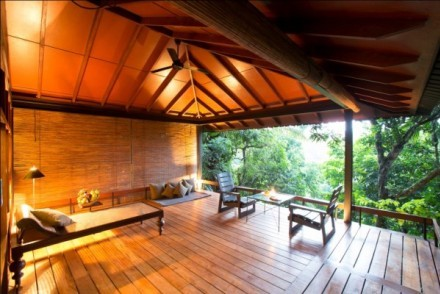 Living area of eco dwelling, Jetwing Kurulubedda, Galle, Sri Lanka