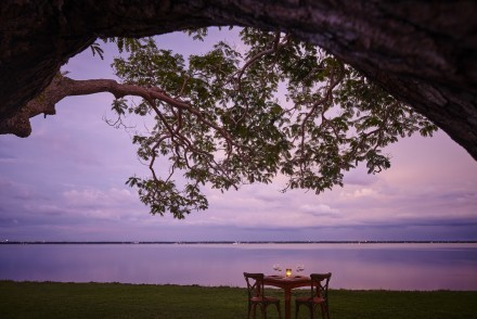 Destination dining next to the lagoon, Jetwing Lagoon, Negombo, Sri Lanka