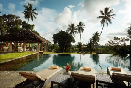 Infinity pool at Kahanda Kanda, Galle, Sri Lanka