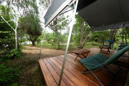 View from luxury tent veranda, Kulu Safaris, Yala, Sri Lanka