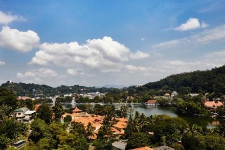 Spectacular view from OZO Kandy Sri Lanka
