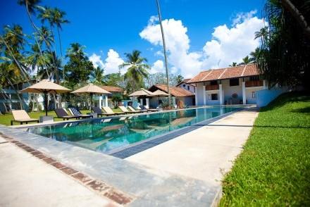 Pool and garden, Paradise Road The Villa, Bentota, Sri Lanka
