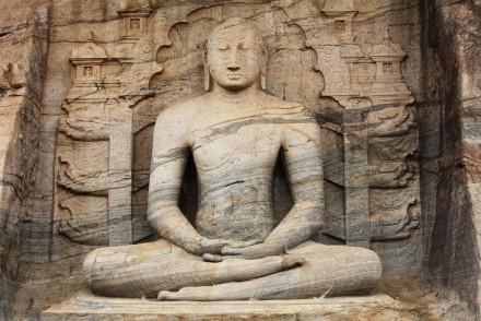 Buddha in Samadhi at Gal Vihara, Polonnaruwa, Sri Lanka