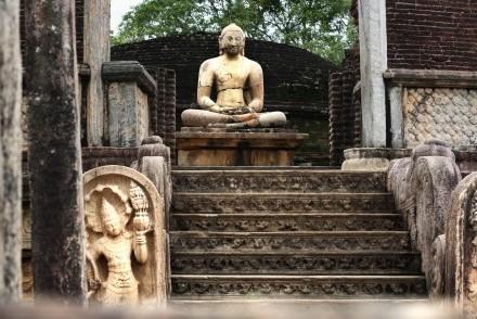 North entrance of Vatadage, Quadrangle, Polonnaruwa, Sri Lanka