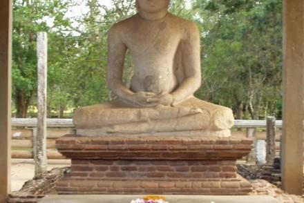 The Buddha in samadhi (meditation), Abhayagiriya, Anuradhapura, Sri Lanka
