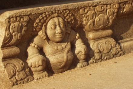 Gana step decoration, Abhayagiriya, Anuradhapura, Sri Lanka
