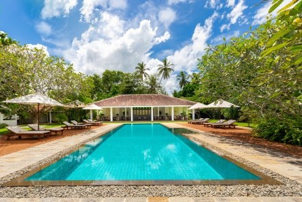 Pool and dining pavilion, Taru Villas - Rock Villa, Bentota, Sri Lanka