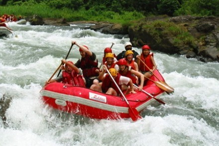 White-water rafting on the Kelani River, Kitulgala, Hill Country, Sri Lanka