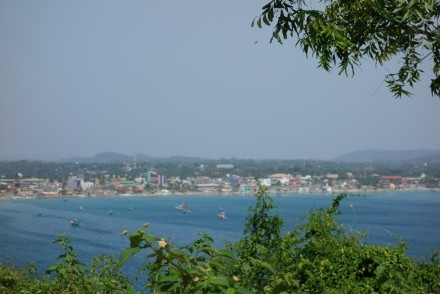 Trincomalee, as seen from Koneswaram temple, Sri Lanka