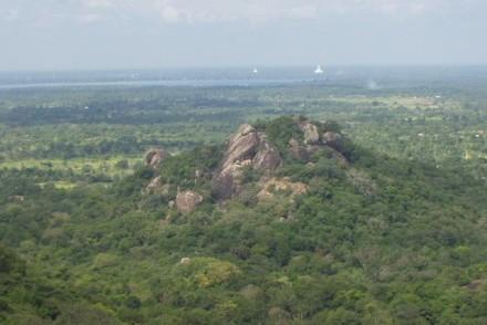 View of Anuradhapura from Mihintale, Sri Lanka