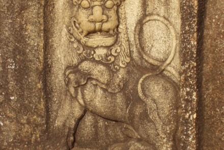 Wall adornment, Abhayagiriya, Anuradhapura, Sri Lanka