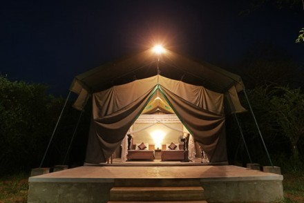 Tent at night, Wilpattu Safari Camp, Wilpattu, Sri Lanka