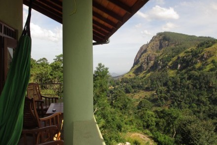 View of Ella Rock from Zion View bedroom balcony, Ella, Sri Lanka