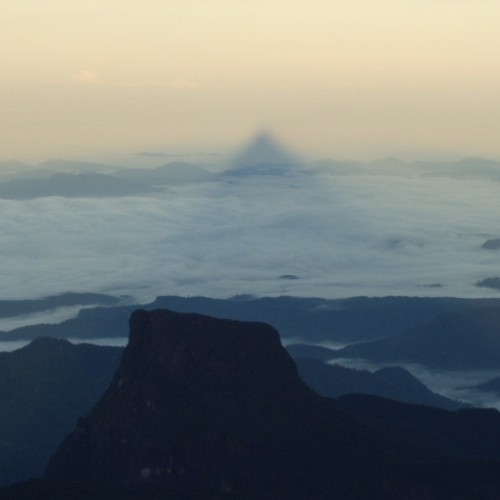 'Shadow of the Peak' from the summit, Adam's Peak, Sri Lanka