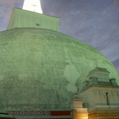 Ruvanveliseya Dagoba at night, Anuradhapura, Sri Lanka