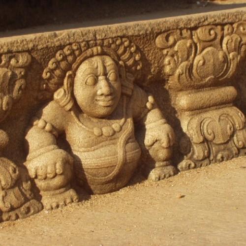 Gana step decoration, Mahasena's Palace, Anuradhapura, Sri Lanka