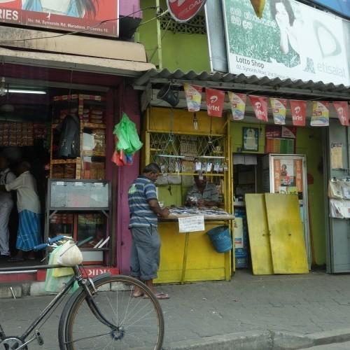 Typical street scene, Colombo