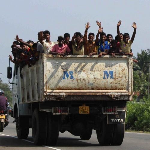 Happy, smiley people, East Coast, Sri Lanka
