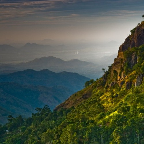 Spectacular view south from Ella, Hill Country, Sri Lanka