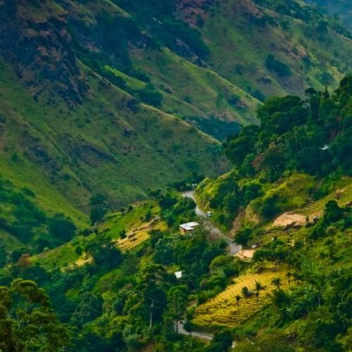 View into Ella Gap from Ella village, Hill Country Sri Lanka
