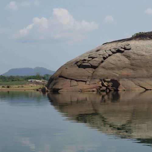 Senanayake Samudra within Gal Oya National Park, the largest lake in Sri Lanka