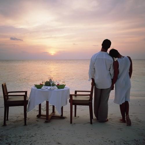 Sunset bliss, on honeymoon in Maldives
