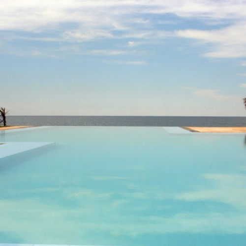 Infinity pool at Palagama Beach, Kalpitiya, West Coast, Sri Lanka