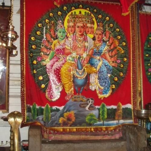Skanda shrine, Maha Devale, Kataragama, Sri Lanka