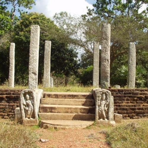 Guardstones, Quincunx, Mihintale, Sri Lanka