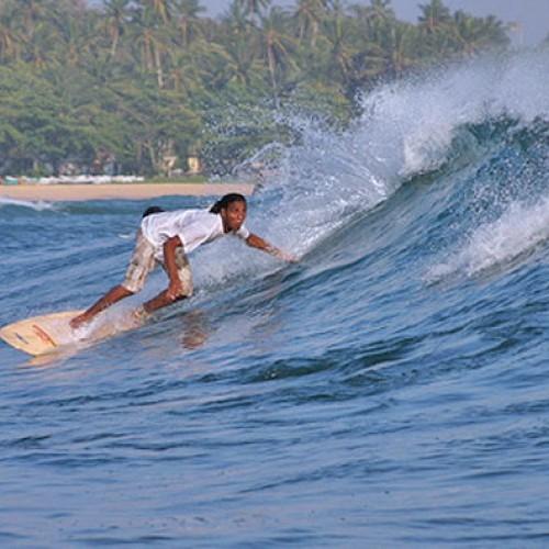 Surfing from Paradise Beach Club, Mirissa, Sri Lanka