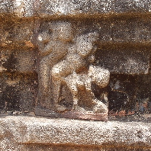 Tantric carvings, Nalanda Gedige, Sri Lanka