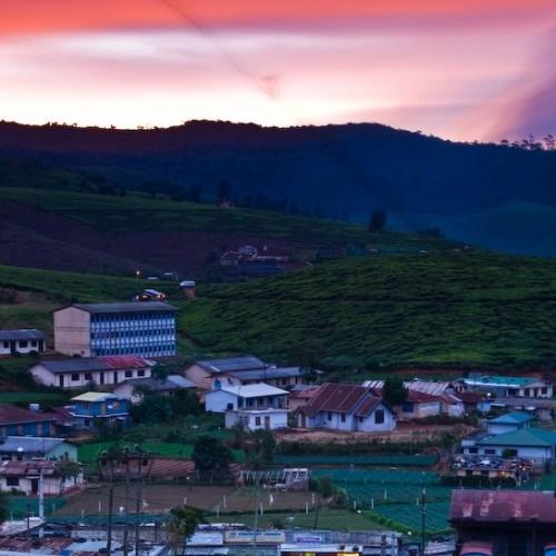 Sunset, Nuwara Eliya, Hill Country, Sri Lanka